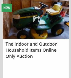 The Indoor and Outdoor Household Items Online Only Auction