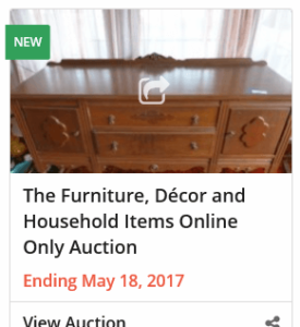 Furniture, Decor and Household Online Only