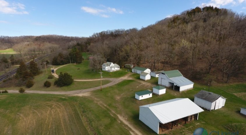 Charming Farmhouse with Trophy Deer Hunting Land in Southwestern Wisconsin