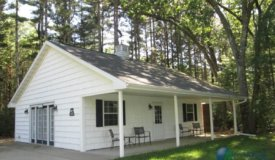 Custom Built Lake Front Cabin on Wooded Acreage