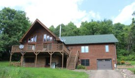 Extravagant Log Home on Dead End in Monroe County WI