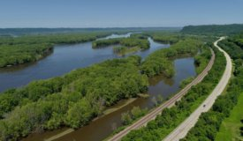 Lot Overlooking Mississippi River for Sale in Genoa, WI