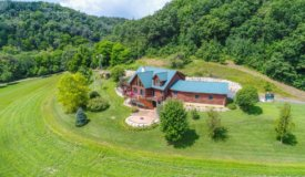 Custom-Built Luxurious Log Home with Views For Sale in Vernon County, WI